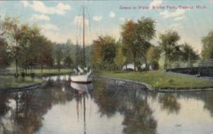 Michigan Detroit Scene In Water Works Park 1909