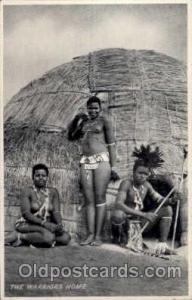 African Nude Nudes Postcard Post Card  The Warriors home