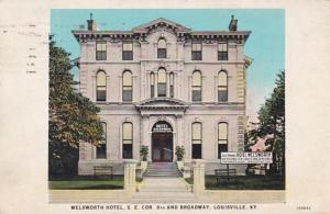 Kentucky Louisville Welsworth Hotel 1932 Curteich
