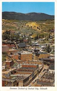 Central City Colorado~Business District Bird's Eye~Teller House~McLaughlin's~'50