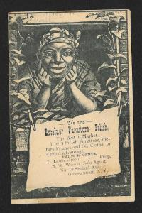 VICTORIAN TRADE CARD Excelsior Furniture Polish Black Woman