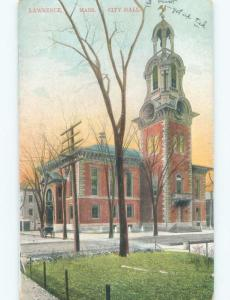 Divided-Back CITY HALL Lawrence Massachusetts MA E5432
