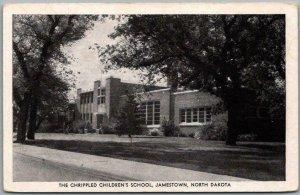 Jamestown, North Dakota Postcard The Crippled Children's School Street View