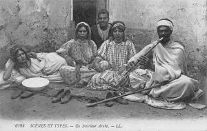 Scenes et Types Un Interieur Arabe
