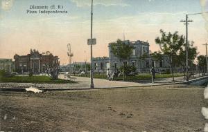 argentina, DIAMANTE, Entre Ríos, Plaza Independencia (1924)