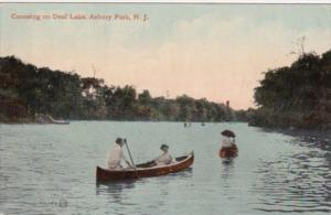 Canoeing On Deal Lake Asbury Park New Jersey 1911