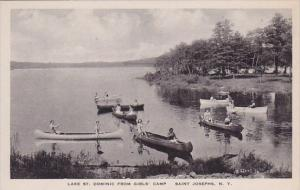 New York Saint Josephs Lake Saint Dominic From Girls Camp Albertype