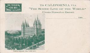Advertising Judson Scenic Route Tourist Car Parties To California