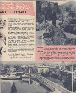 VICTORIA & VANCOUVER Island , Tour Guide 1930s ; w/map