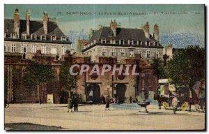 Old Postcard Saint Malo Porte Saint Vincet St Vincent Gate