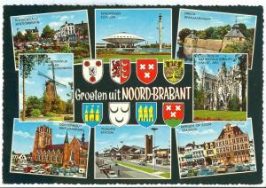 Netherlands, Groeten uit Noord-Brabant 1960s unused Postcard