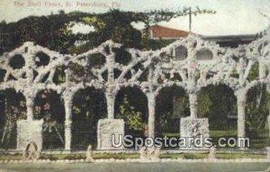 Shell Fence - St Petersburg, Florida FL Postcard