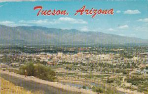 Arizona Tucson Panoramic View From A Mountain 1961