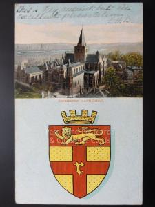 Kent: Rochester Cathedral c1905 Heraldic Coat of Arms