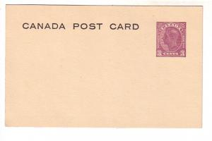Postal Stationery Canada, George VI 3 Cent Purple, 'Canada Post Card' Front