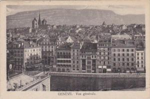 Switzerland Geneve Vue generale 1913