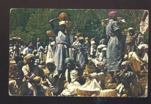 HAITI A MARKET DAY WOMEN VENDORS VINTAGE POSTCARD HAITIAN