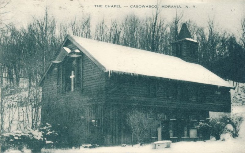 Chapel at Methodist Camp Casowasco on Owasco Lake Moravia NY, New York - pm 1952