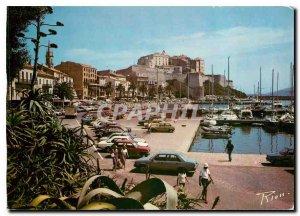Old Postcard The port Calvi Citadel