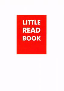 Postcard Slogan  Little Read Book  NEW #MU1012