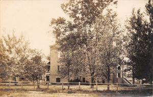 Miles City Montana~Court House Behind Trees~Real Photo Postcard RPPC 1909