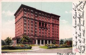 Hotel Schenley, Pittsburgh, Pennsylvania, Early Postcard, Used in 1907