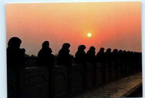 Hong Kong Lugouqiao Marco Polo Bridge at Sunset Vintage 4x6 Postcard A52