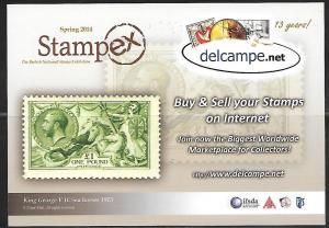 Delcampe, 2014 STAMPEX card, unused