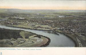 TUCK #2462, Chattanooga, Tennessee from Point, Lookout Mountain, 00-10s