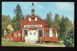 Weld, Maine/ME Postcard, The Farmer's Wife Gift Shop & Luncheonette