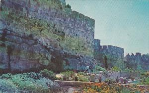 Jerusalem Municipal Gardens and Old City Wall 1966