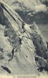 Traverslerung einer Eiswand Mountin, Rock Climbing, Explorer, Old Vintage Ant...