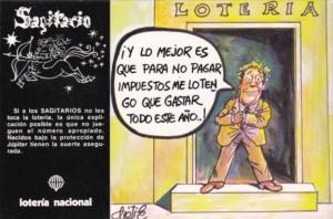 Advertising Loteria Nacional Spain Sagitario