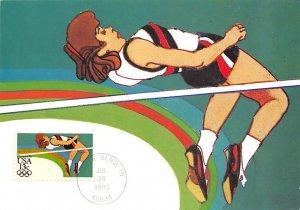 High Jumping Artwork by Robert Peak Olympic Unused