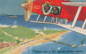 Things am a bit upside-down here, Kids in an Airplane , 1910s