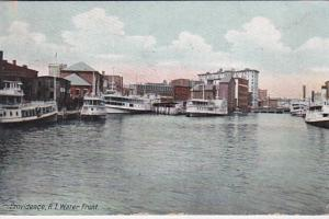 Rhode Island Providence Scene Along The Water Front 1910