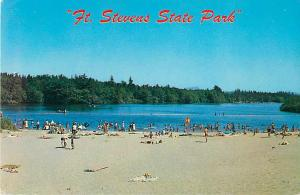 Ft. Stevens State Park, Coffinberry Lake near Warrenton, Oregon, OR, Chrome