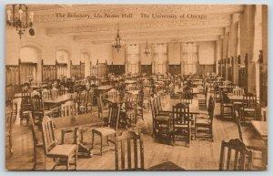 University of Chicago IL~Ida Noyes Hall~Refectory Interior~c1910 Sepia Postcard