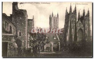 Old Postcard Canterbury Archbishop's Palace
