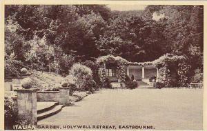 Italian Garden, Holywell Retreat, Eastbourne, Sussex, England, United Kingdom...