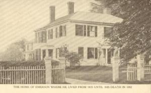Home of Emerson, Massachusetts unused Postcard