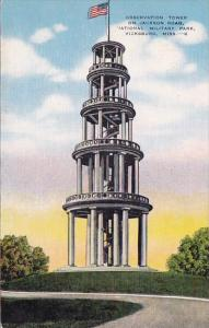 Mississippi Vicksburg Observation Tower On Jackson Road National Military Park