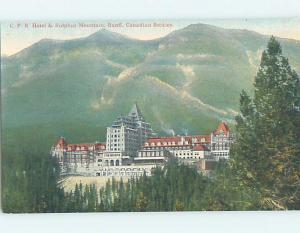 Unused Divided-Back HOTEL SCENE Banff Alberta AB B1831