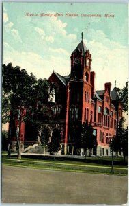 Owatonna, Minnesota Postcard Steele County Court House Building View 1916