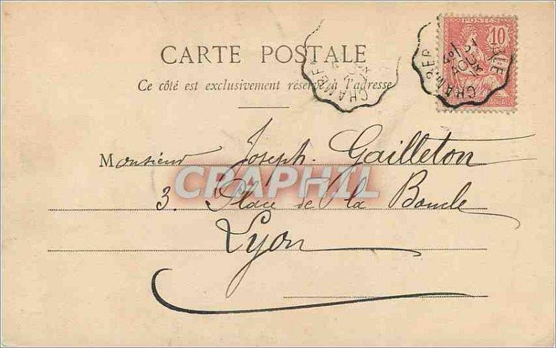 Old Postcard Chambery La Fontaine des Elephants (Boigne)