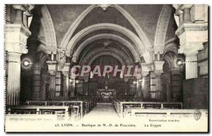 Lyon Postcard Old Basilica ND fourviere The crypt
