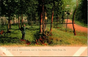 Vtg Postcard 1906 UDB Line of Entrenchments Used By Gen Washington Valley Forge