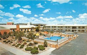 Galllup New Mexico~Ramada Inn Hotel on Route 66~Ladies @ Swimming Pool~1960s Pc