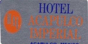 Mexico Acapulco Hotel Imperial Vintage Luggage Label sk2476