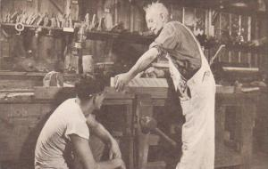 Massachusetts Sturbridge Wood Turner And His Apprentice Old Sturbridge Village